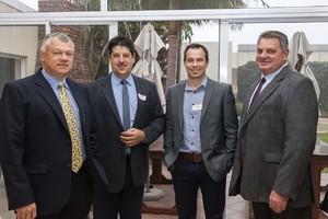 Bryan Ferreira, Leon Steunenberg, Hendre Schoeman and Lucian Nelson (Absa Commercial Property Finance).