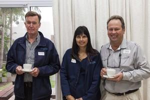 Keith Baylis (Gutsche Investments), Julie Mundell (Gutsche Investments) and Robbie Barnard (Rousseau Probert Elliot).