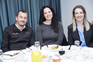 Ashley Ruiters (LDM Quantity Surveyors), Nicola Villarini (Rabie Property Adminstrators) and Linda Linnow (Hyprop Investments Limited).