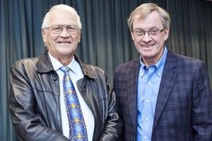 Prof Willie Esterhuyse (Barinor Holdings Ltd) and Desmond Smith (Sanlam).