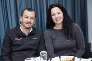 Ashley Ruiters (LDM Quantity Surveyors) and Nicola Villarini (Rabie Property Adminstrators).