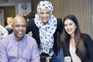 Mac Daniels (V&A Waterfront Holdings), Faiza Jacobs and Kouthar Mayat (Nedbank).