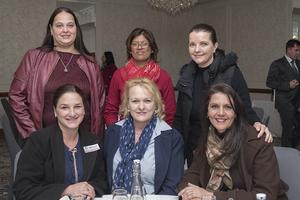 Seated: Melissa Bouwer, Denise Wannenburg, Wilna Savio, Standing: Adri Pretorius, Sandy Singh, Cara Grobler (Broll)