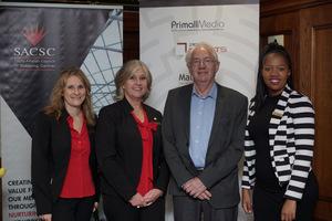 Sheila Wilesmith,  Rene Albasini, (SACSC) Prof John Simpson (UCT Unilever)Audrey Nkunzi, (SACSC)