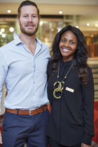 Adrian Read (Growthpoint) Amanda Dilima (V& A Waterfront)