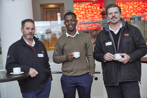 Stuart Wragg (Securitas) Noko Sekgobela(Growthpoint Management Services)Marius Hayes (Securitas)