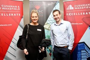 Kate Hulley (Primedia Lifestyle)& Brad Freitas (Cushman & Wakefield Excellerate)