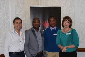 Eugene Potgieter, Molebogeng Wechoemang, Kamogelo Khunou, Sharon Herbst (Retail Network Services)