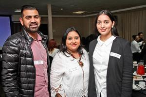 Muhammad Varachia (JHI Retail) Eshana Harichand, Jahan Rajab( Coral International asset Managers)