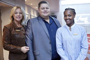 Paula van Melsen (Broll), Frikkie Nel (PEC Utility Management), Amanda Dilima (V & A Waterfront)