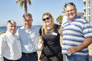 Dave Cohen, Nick Generakis, Joanne Elliott, Mike Eayrs (Spar Retailers)