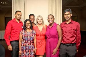 Arif Shaik, Zinhle Madiba, Theresa Terblanche, Siphume Khuzwayo, Omar Khan, Ruth Issacs (Front) (Broll)