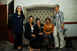 Luciana Popa (Melrose Arch), Loveina Chummie, Louise Olivier, Nicole Crowie, Carol-Lee Payne (Cushman Wakefield Excellerate)