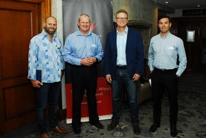 Kieron Van Rooyen (Turnkies Solution), Mike Ruttell (Redefine), Ian Rheeder (Markitects), Ruben Smit (Investec)