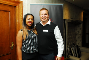 Audrey Nkunzi (SACSC), Gavin Jones (Growthpoint)