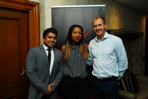 Vishal Ramphal, Audrey Nkunzi (SACSC), Marc van Olst (Pie City Holdings)