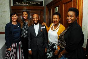Rosa Viljoen (Mowana), Audrey Nkunzi (SACSC) Tumi Makoropo, Ithumeleng Boylane, Makupa Madia (Mowana)