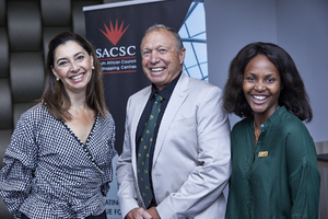 Dr Steve Harris (etaCollege), Jewel Harris (Growthpoint Properties), Amanda Dilima (V & A Waterfront)