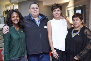 Amanda Dilima (V & A Waterfront), Frikke Nel (PEC Utility Management), Hester Robinson (Mustard Seed), Brenda Bibby (Cushman Wakefield Excellerate)