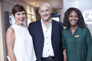 Hester Robinson (Mustard Seed), David Stoll (Growthpoint Management), Amanda Dilima (V & A Waterfront)