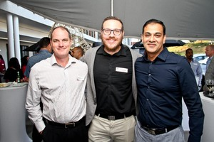 David Coombe (CPA Security) Donald Mclellan (Broll)Akash Maharaj (Cushman & Wakefield Excellerate)