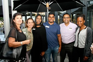 Michelle Christian (The Pavilion)Lisette keightley, Genie Govender, Ruchir Singh,   (Betts Townsend)Umesh Morar (The Royal Tobacconist), Nondumiso Ntsele (Betts Townsend)