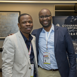 Rendani Phaswana (hyprop Investments) Andrew Chavhunduka ( Redefine)