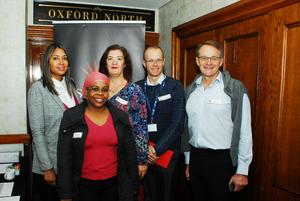 Jillian Arendze- Naidoo, Linda Holmes, Anita Cossey, Rupert Pohl, Andries Schaap (Sasol Pension fund)