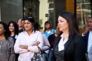 Pria Bhagwandin(Cushman & Wakefield excellerate), Vanessa Blevins (Growthpoint)