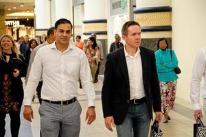 Akash Maharaj ( Cushman Wakefield Excellerate), Greg Lee (The Hub & CB Stores)