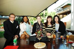 Shane Gericke, Smagele Zwane (The Foschini group)Petra Foord, Rochele de Canha (East Rand Mall) Laetitia Zillen (Redefine)