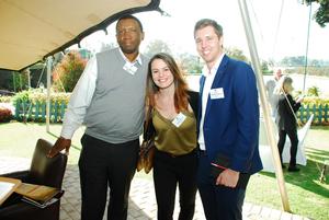 Sabelo Ndabazandile, Jonelle Kuyler, Matthew Nowosiad (Absa)