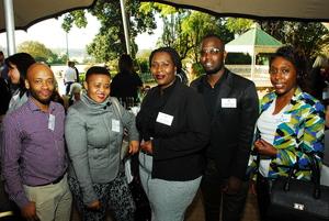 Itumeleng Makoropo, Tumi Moloinyane, Portia Mbathu (Mowana Properties) Jaysen Mulaudzi (Redefine)
