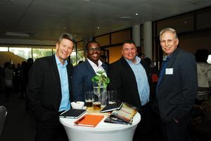 Mike Mortimer, Mthabisi Ndvu, Johann Schoeman, Deon Kok (Absa)