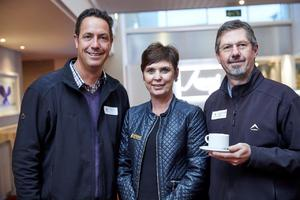 Brett Exner from Woolworths, Hester Robinson from Mustard Seed and Stephan Roodt of Growthpoint Management Services