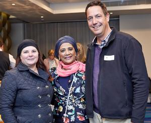 Ingrid Milne and Faizah Behardien from Cushman & Wakefield Excellerate with Brett Exner Woolworths