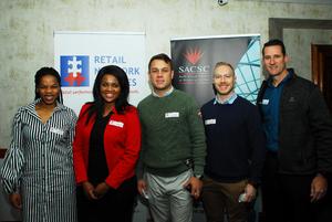 Jabu Ngcobo, Wendy Ngomane (Nedbank)Gareth Sanders, Josua Botha, Jason Nel (Flanagan & Gerard)