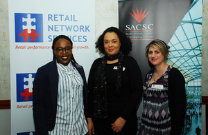 Nkateko Radebe, Charmain Qofela,(Greenstone Shopping Centre)  Clair Vilas (Retail Network services)