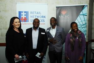 Landi van Deventer (Emira Property fund) Thabo Ntseare ( Uhanbo REIT) Rishard Siziba (Boneka digital Printers) Sisabetha Vilakazi (Emira Property Fund)