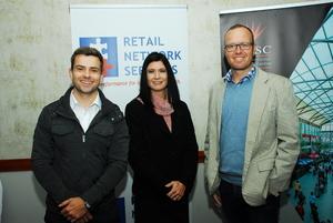 Pieter van Niekerk, Erika Buys (Safari Retail) Francois Joubert ( Cosmos Management)