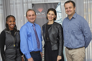 Amanda Dilima (V & A Waterfront), Paul Egan (UCT Unilever), Jewel Harris (Growthpoint Properties), Dr James Lappeman (UCT Unilever)