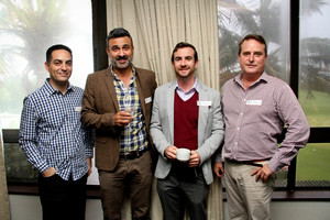 Yiann Pavlou (Portfolio Property) Nad Shahid (Urban Lime) Mitch Crowie, Frank Reardon (Broll)