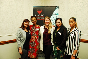 Rochele de Canha(East Rand Mall),  Thato Mocwaledi (CW Excellerate)Petra Foord (East Rand Mall) Louise Olivier, Carol Lee Payne ( C W Excellerate)