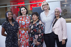 Amanda Dilima (V & A Waterfront) Jewel Harris (Growthpoint) Brenda Bibby ( C W Excellerate) Sanet Uys (Serendipityremix) Aadilah Ryklief (Growthpoint)