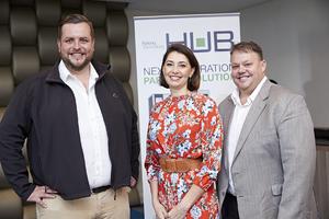 Anton Neveling (Hub Parking Technology)Jewel Harris (Growthpoint) Barney Beukes (Hub arking Technology)