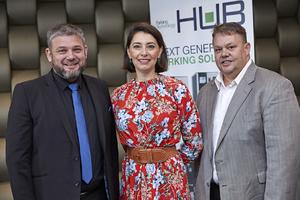 Alan Committie, Jewel Harris (Growthpoint) Barney Beukes (Hub arking Technology)