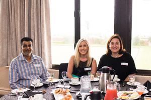 Amod Khan (Trafalgar Property Management), Amy Lee, Jeanine Brown (Rokwil)