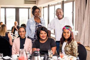 Adeela Haffejee, Sandy Mabena, Zinhle Zungu (Broll)top row Siphumelele Khuzwayo, Suzie Zulu(Broll)