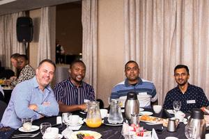 Andrew Webb, Simba Machanyangwa, Kuben Reddy, Lushen Moodley (Mr Price Group)