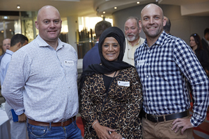 Naude Smith(Old Mutual Finance), Faizah Behardien(C W Excellerate), Morkel van Wyk(Old Mutual Finance)